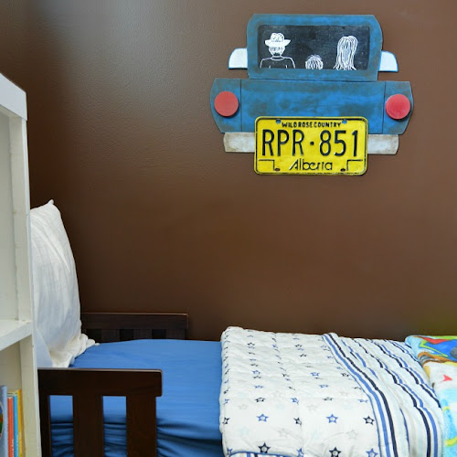 License Plate Art For A Child's Room