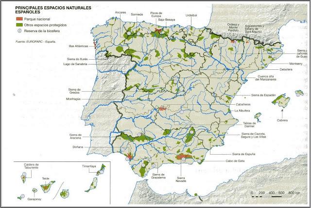 Resultado de imagen de parques NATURALES españa
