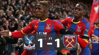 Crystal Palace vs West Ham 1 - 1 Football Highlights and Goals 2019