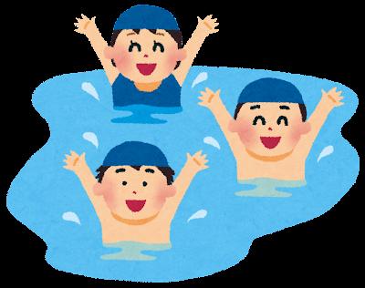 水で遊ぶ少年少女