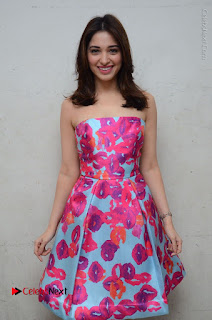 Actress Tamanna Latest Images in Floral Short Dress at Okkadochadu Movie Promotions  0077.JPG