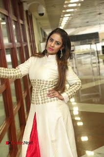 Telugu Actress Sri Reddy Mallidi Stills in White Beautiful Dress at Marriage Needs Bridal Fashion Week 2017 Logo Launch  0029.JPG