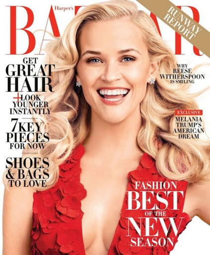Reese Witherspoon Harper's Bazaar Magazine February 2016 Photo Shoot