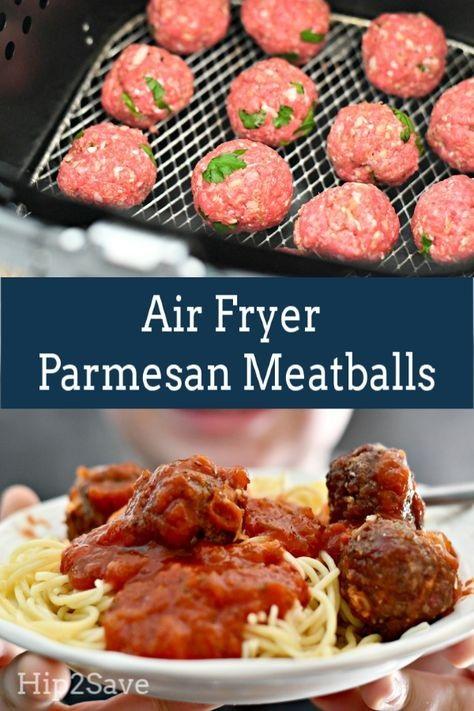 Air Fryer Parmesan Meatballs