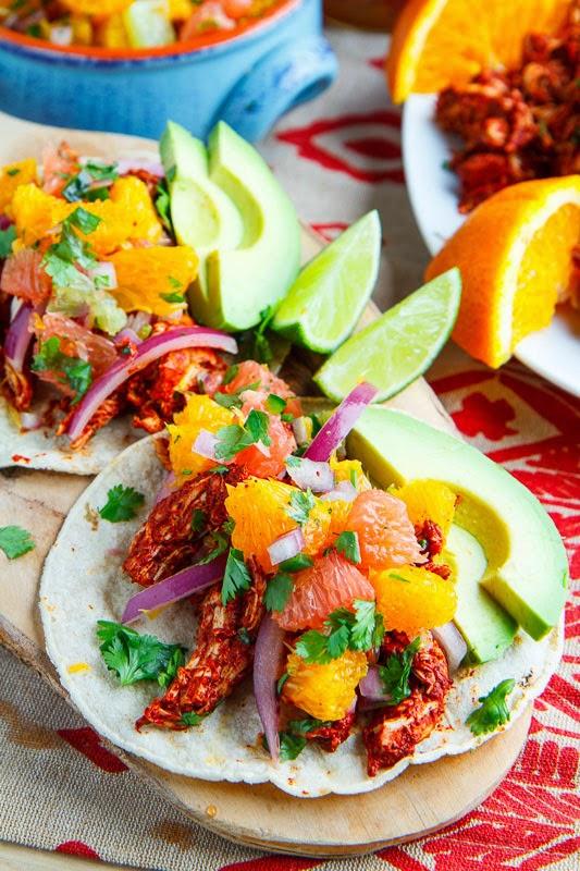 Pollo Pibil Tacos with Citrus Salsa
