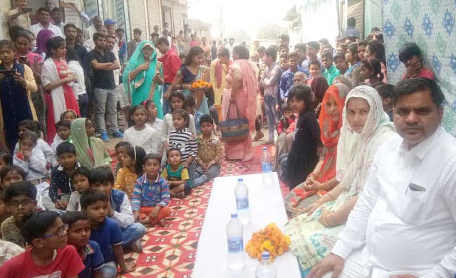 In the Shiv Enclave, Om Sai Kids School, the councilor reached the annual function of the Munish-Ravi