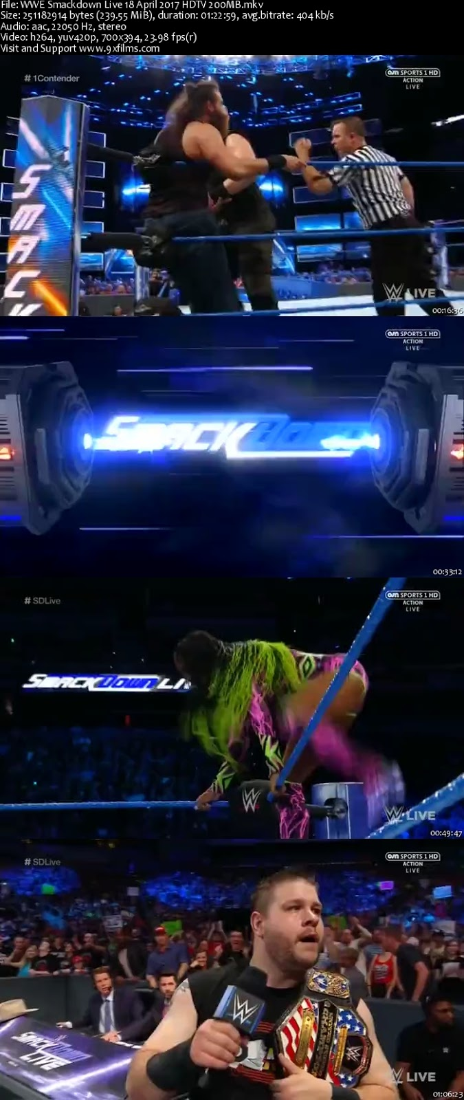WWE Smackdown Live 18 April 2017 HDTV 480p