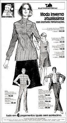 moda inverno década de 70; roupas anos 70; moda anos 70; propaganda anos 70; história da década de 70; reclames anos 70; brazil in the 70s; Oswaldo Hernandez