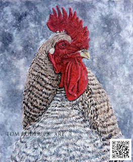 Geoff the Fire Rooster 2017 by Boulder artist Tom Roderick