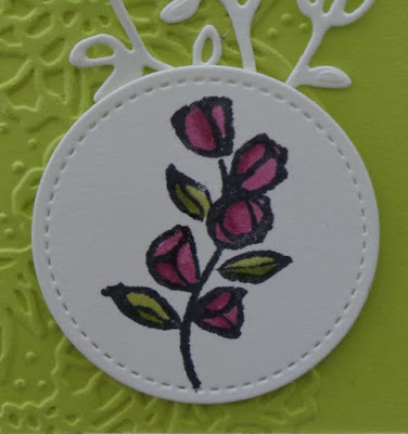 Stampin Up! UK Independent  Demonstrator Susan Simpson, Craftyduckydoodah!, Petal Palette, January 2018 Coffee & Cards project, Supplies available 24/7,