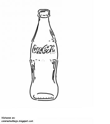 Colorea Tus Dibujos Botella De Coca Cola De Vidrio Para
