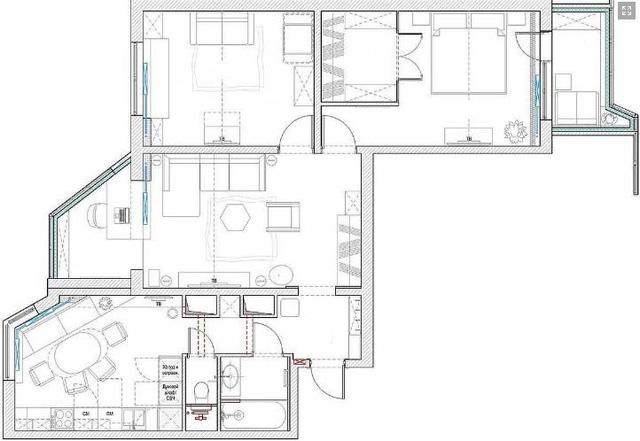 Thiết kế căn hộ 84m2 - Ảnh 19