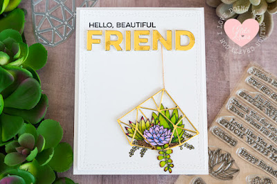 Hello Beautiful Friend Card by Ilda - 2017 Superstar Card Contest Entry