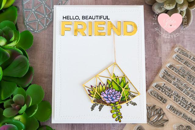 Hello Beautiful Friend Card by Ilda - 2017 Superstar Card Contest Entry