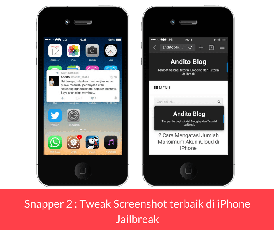 Snapper 2 Tweak Screenshot terbaik di iPhone Jailbreak