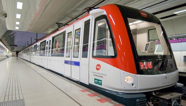 Metrô em Barcelona