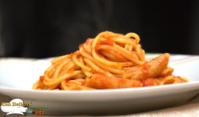 spaghetti in tomato sauce ספגטי ברוטב עגבניות