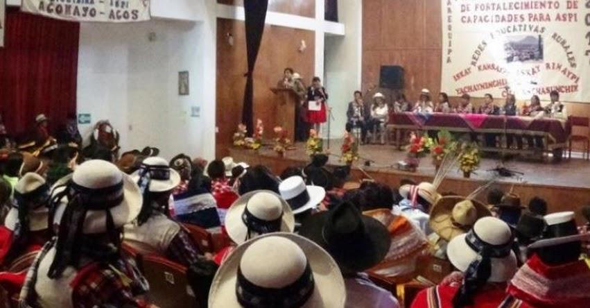 Asistentes de Soporte Pedagógico Intercultural (ASPI) participan en Taller Macroregional que se realiza en Arequipa