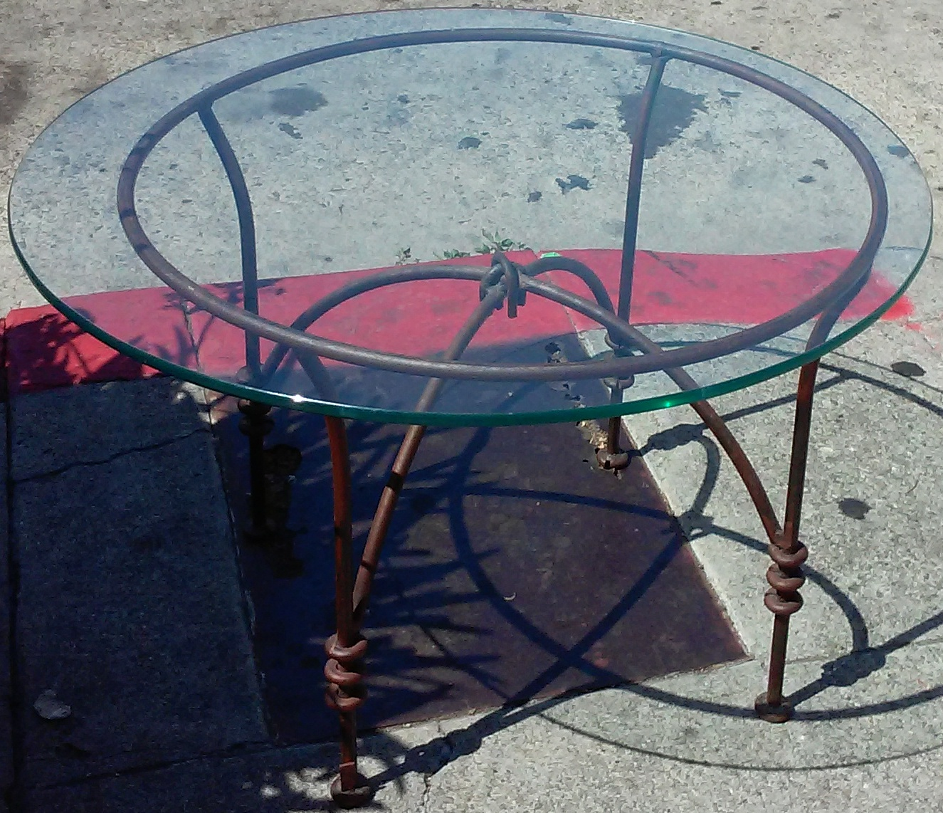 Uhuru furniture collectibles sold wrought iron and for Wrought iron and glass side tables