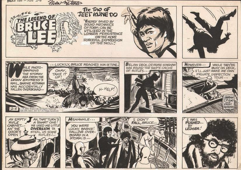 bruce lee comic strip