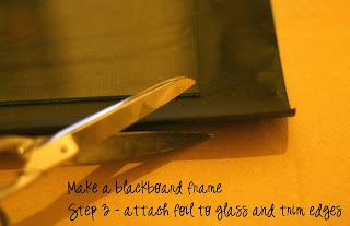 Step 3 attach to glass and trim edges
