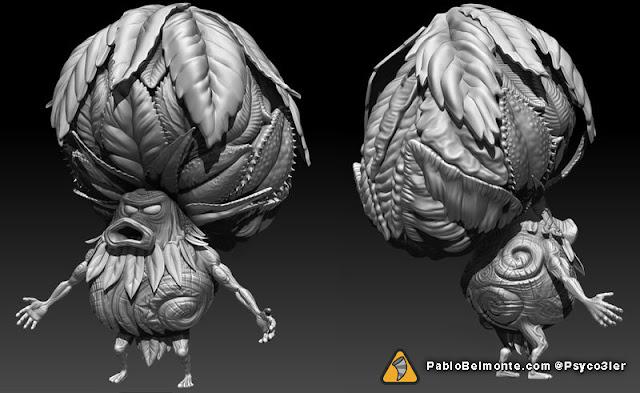 Pablo Belmonte Psyco3ler Zelda majora's mask character design Deku King