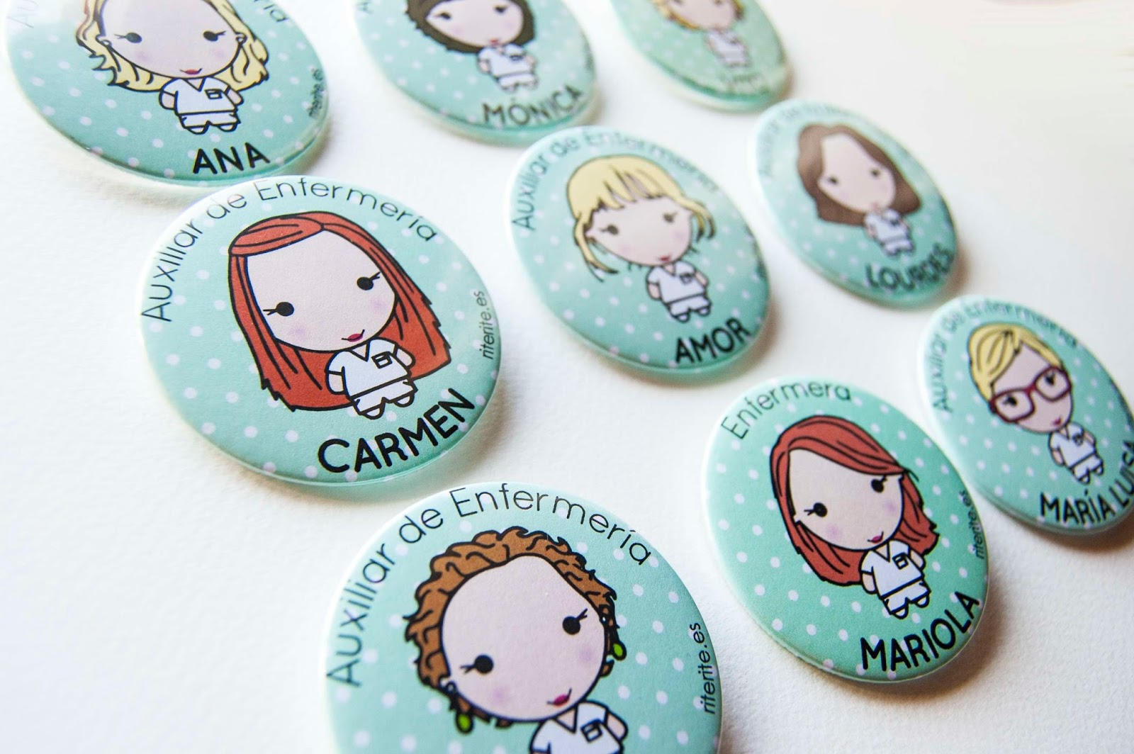 Rite rite chapas personalizadas auxiliares de enfermer a - Regalos para enfermeras ...