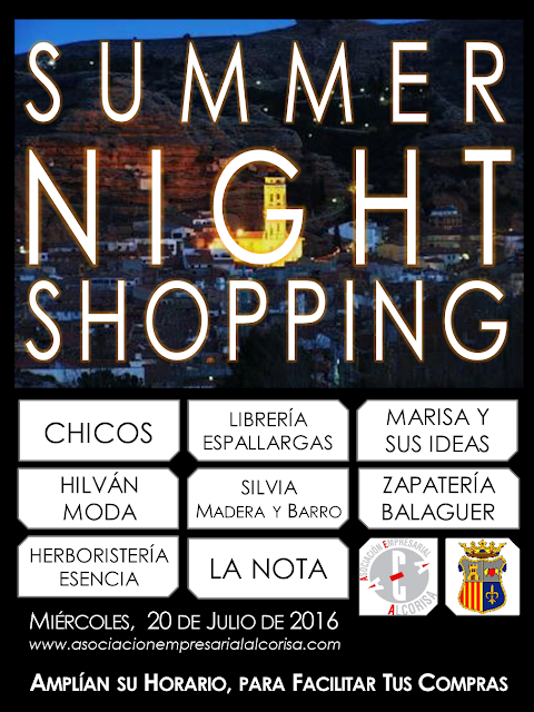 summer night shopping julio 2016 asociación empresarial alcorisa teruel