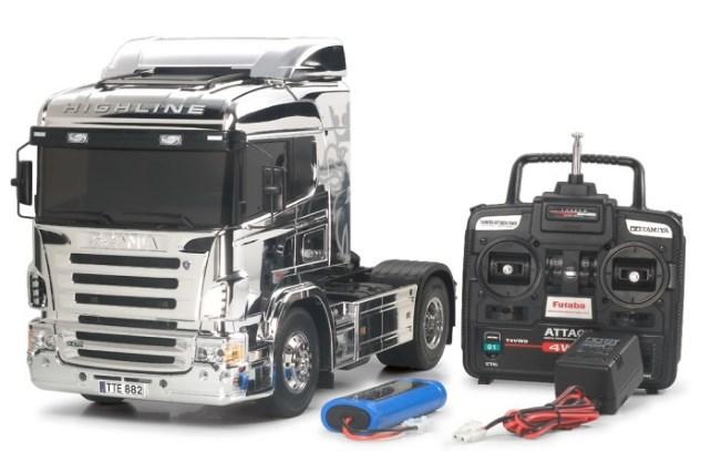 remote kontrol truk scania miniatur
