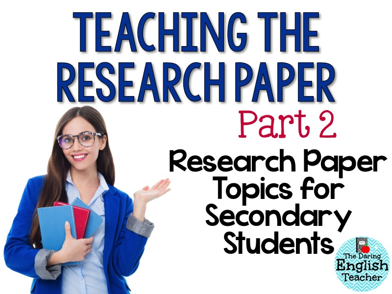 teaching students the research paper Students with the challenge of writing a research paper this book is accompanied by electronic files of reproducible pages of the book these files allow you to reproduce the assignments and graphic organizers, to.