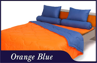 Sprei & Bedcover Shyra Polos - Orange Blue