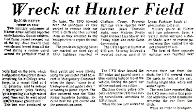 Wreck at Hunter Field - The Savannah Morning News 9-9-1973