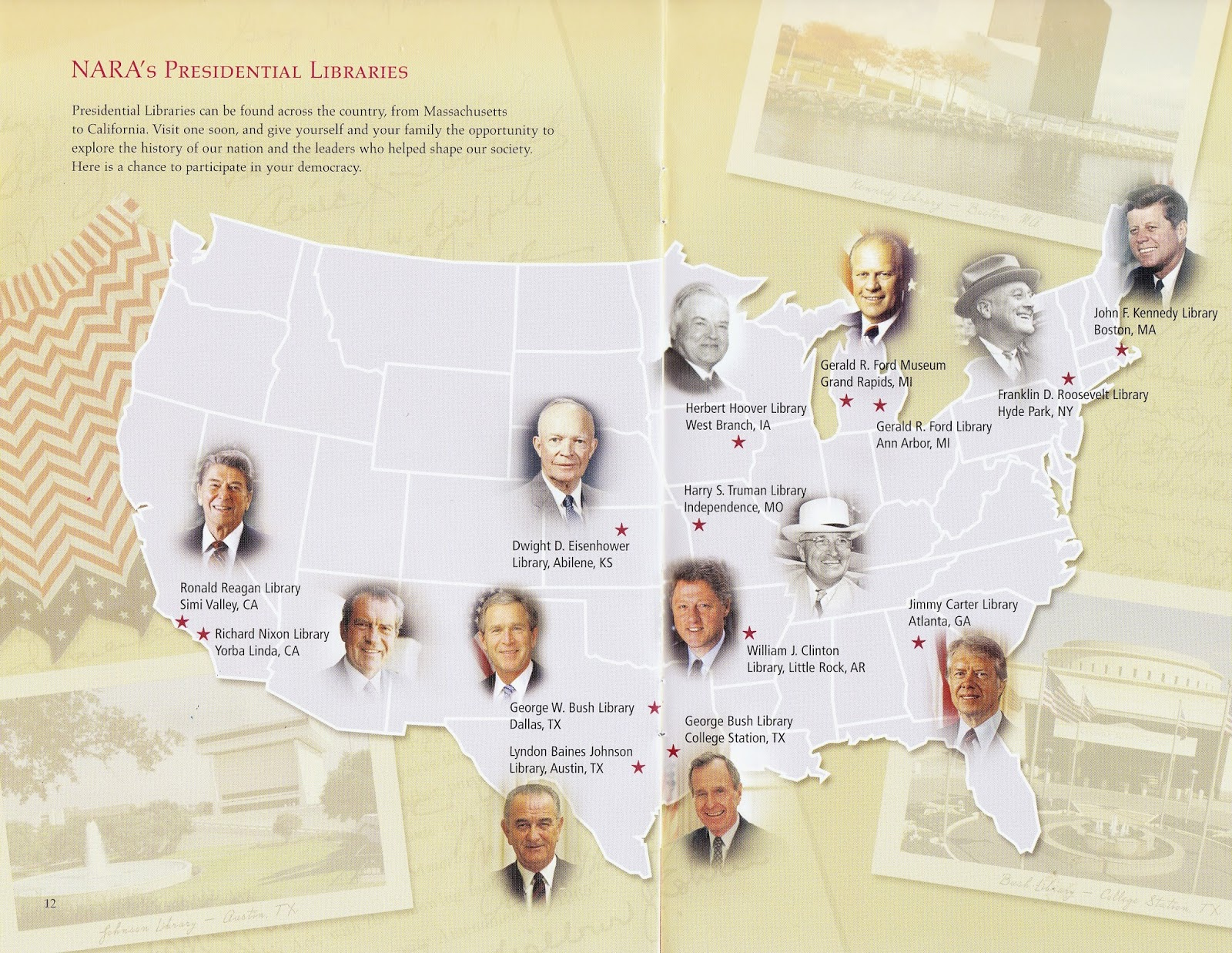 Experience Life On A RV Roadtrip To A Presidential Library - Us presidential libraries map