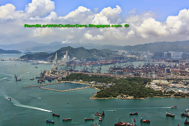 Aerial view, West Kowloon, Tin Lung Heen, ICC, Hong Kong