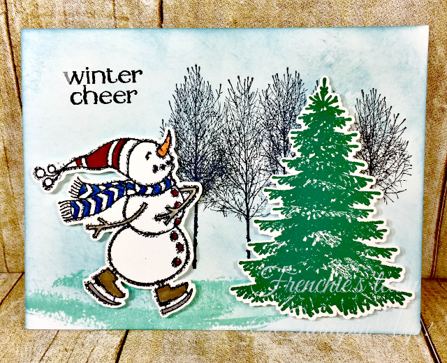 Card, Spirited Snowmen, Winter Woods, Snowman