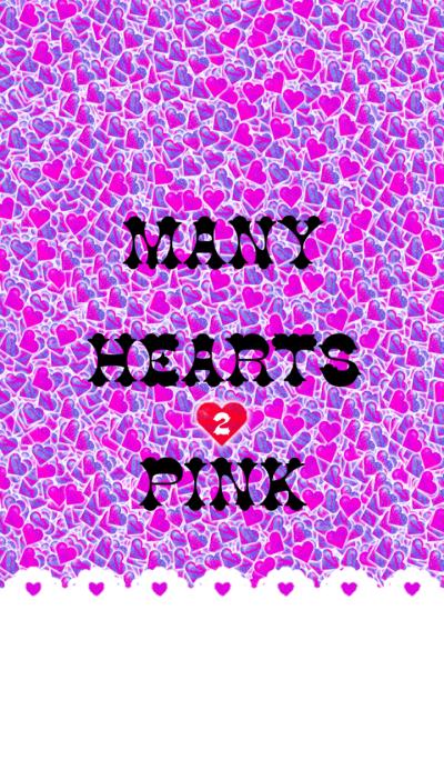 MANY HEARTS PINK 2