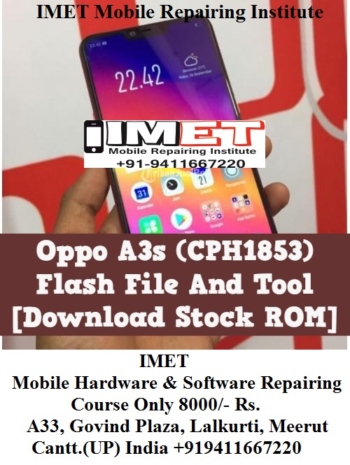 Oppo A3s ODM (CPH1853) Flash File And Tool [Download Stock ROM