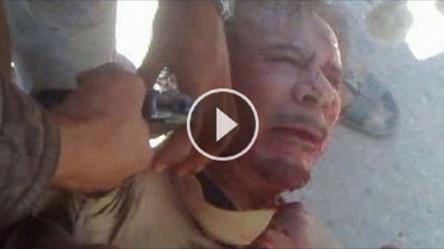 لا ينصح مشاهدة الموضوع من قبل الاطفال ...نشر مقطع صوتى جديد للقذافي قبل موته بدقائق إسمع ماذا قال.. لن تصدق