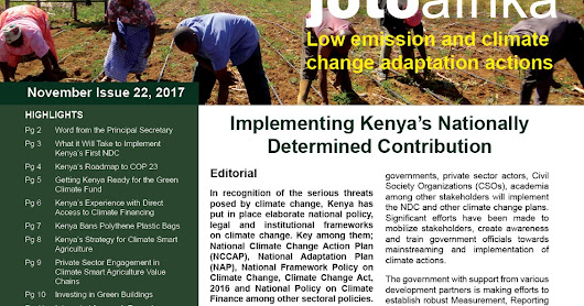 Joto Afrika: Implementing Kenya's Nationally Determined Contribution