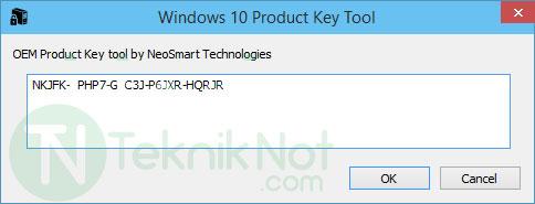 BIOS'a Gömülü Windows Ürün Anahtarını Bulma