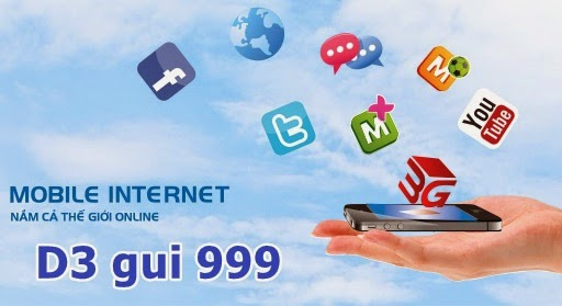 Đăng ký 3G gói D3 Mobifone 3000đ/ngày 400MB