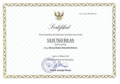 Warisan Budaya Tak Benda Riau 2018 silek tigo bulan