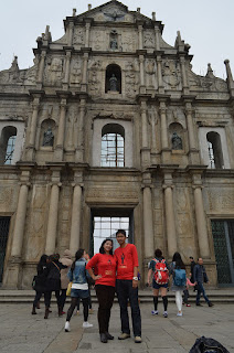 Didepan the Ruin of Chatedral, Macau (Dok: pri)