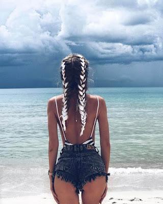 foto de espalda en la playa tumblr