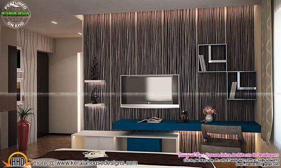 Bedroom TV unit interior