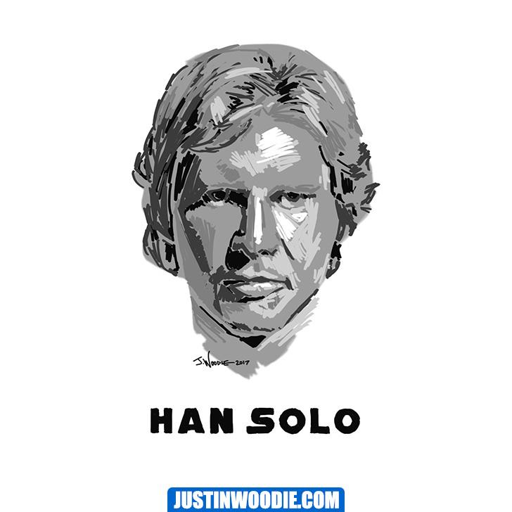 Han Solo Digital Sketch Illustration