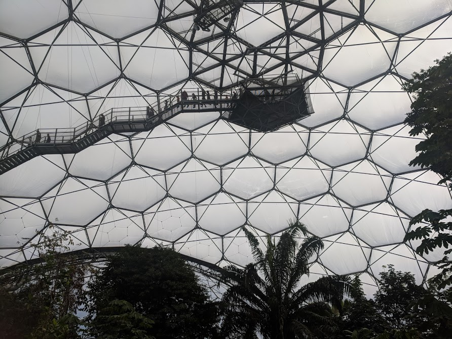 10 Reasons to Visit the Eden Project in Winter  - viewing platform at the top of the tropical biome