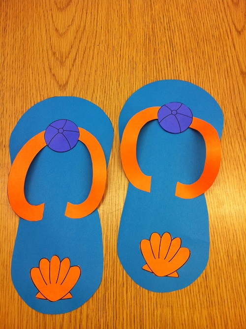 7fb8a3839 The packet includes  templates to make your flip flops