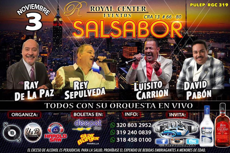 ►  SALSABOR: Ray de la Paz, Rey Sepulveda, Luisito Carrion y David Pavón en Concierto