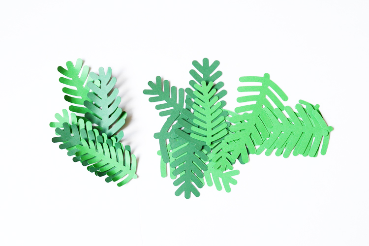 Paper pine leaves